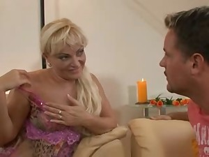 German concupiscent Hausfrau - (Busty golden-haired mom)