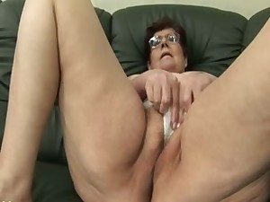 Granny Panty Stuffing and Marital-device Work