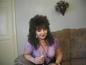 Sexy Breasty Older All red Cougar Assbanged