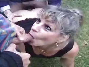 Lewd french older external anal bang