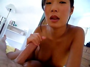 Chinese Wife receives hubby off