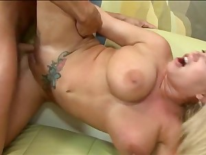 Huge bazookas older with tattoo receives fuck and spunk fountain