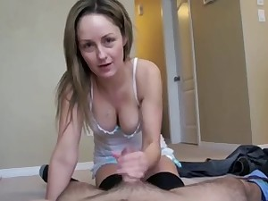 Astounding milf wife and her soft attentive arms wanking my rod