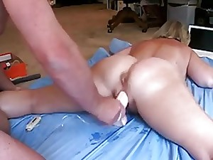 Spouse Producing Her Cum Atop of And Atop of