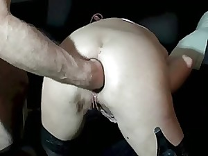 MILF does anal and slit fisting and squirts a lot