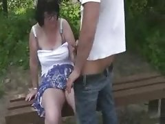 Outside term with lustful Housewife
